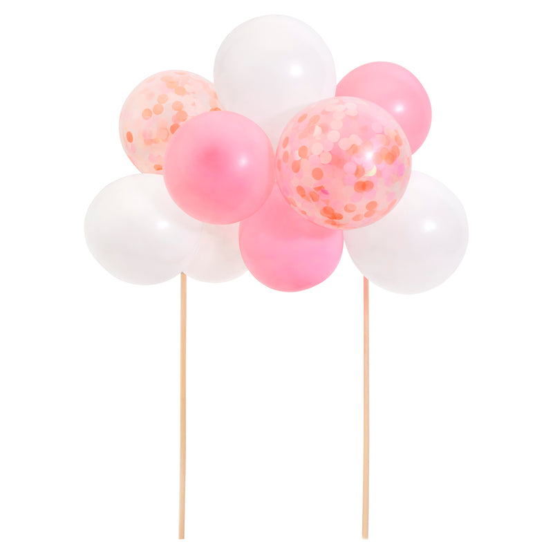 Pink Balloon Cake Topper Kit