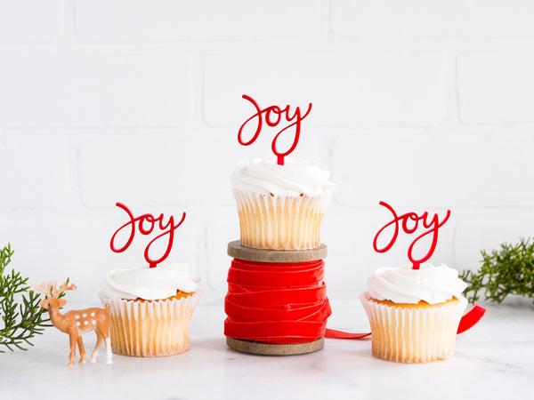 Holiday Joy Cupcake Toppers