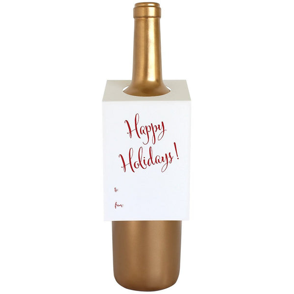 Happy Holidays Bottle Gift Tag