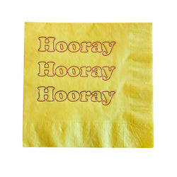 Hooray Foil Napkins - Lemon Yellow