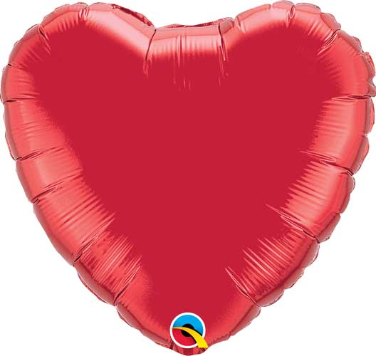 Ruby Red Heart Balloon