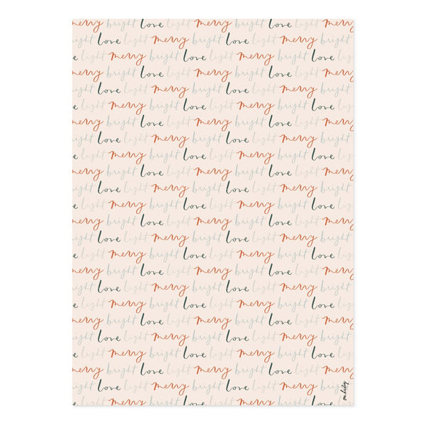 Merry Bright Love Light Gift Wrap