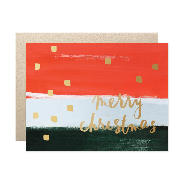 Merry Christmas Stripes Card