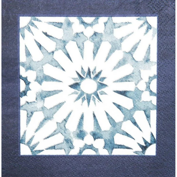 INDIGO BATIK COCKTAIL NAPKIN