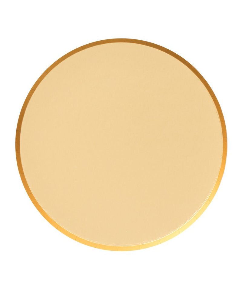 Oh Happy Day Large Plates - Gold