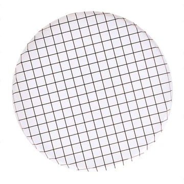 Oh Happy Day Large Plates - Black & White Grid