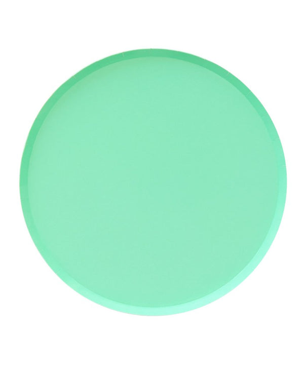 Oh Happy Day Large Plates - Mint