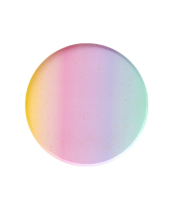 Oh Happy Day Small Plates - Rainbow Ombre