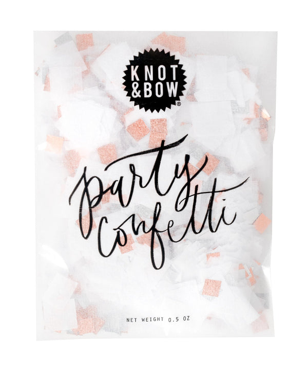 White Copper Party Confetti Bag
