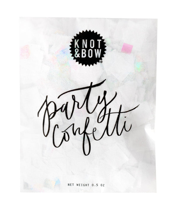 White Iridescent Party Confetti Bag