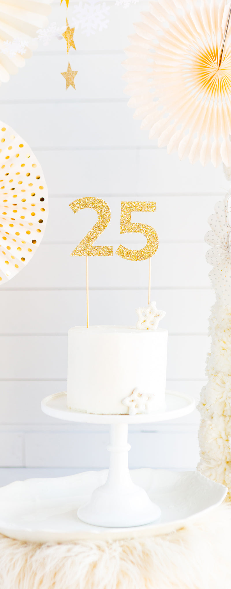 Basic Gold Acrylic Cake Topper - # 9