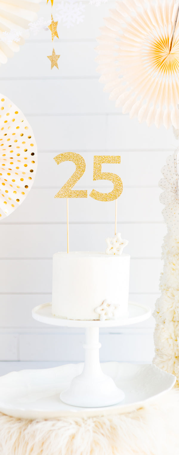 Basic Gold Acrylic Cake Topper - # 7
