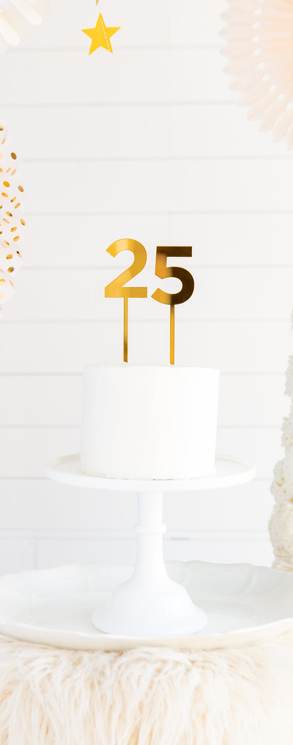 Basic Gold Acrylic Cake Topper - # 4