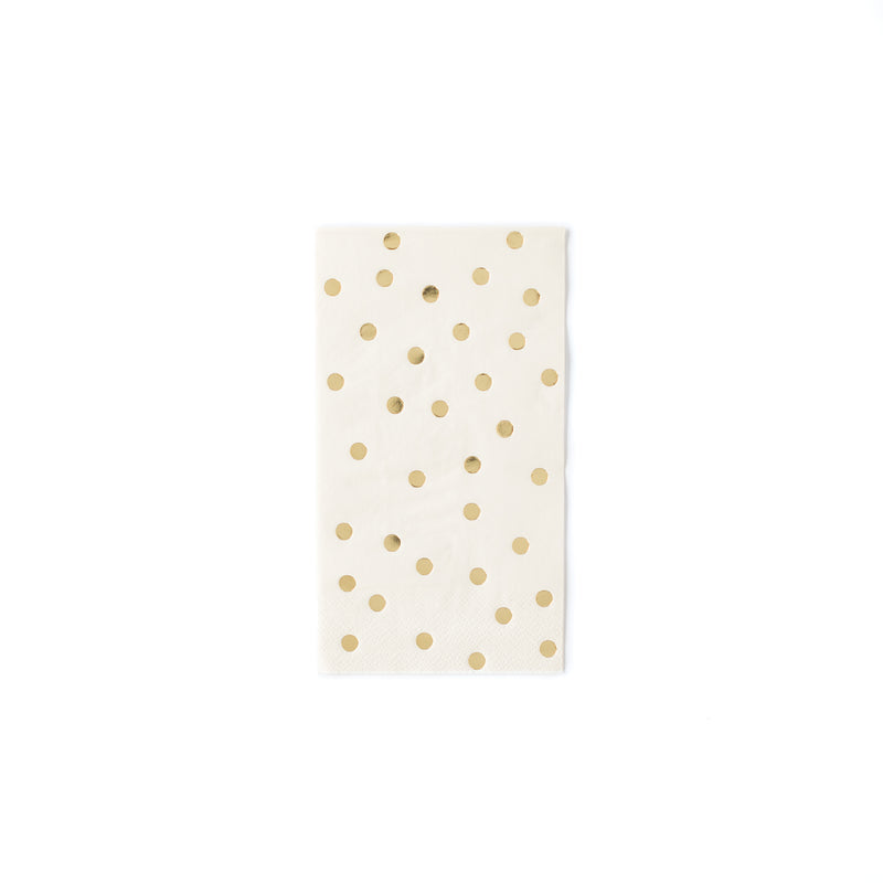 Polka Dot Dinner Napkins - Cream