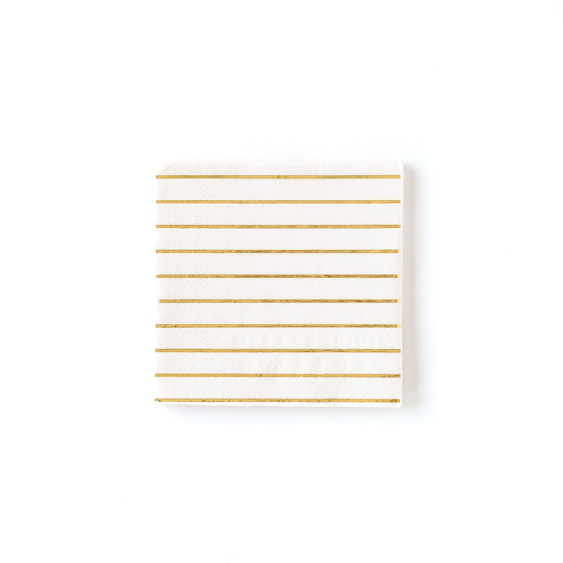 Striped Cocktail Napkins - Cream