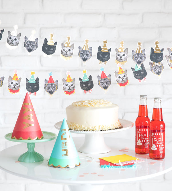 Party Animals Cat Garland