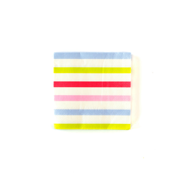 Bakery Striped Cocktail Napkins