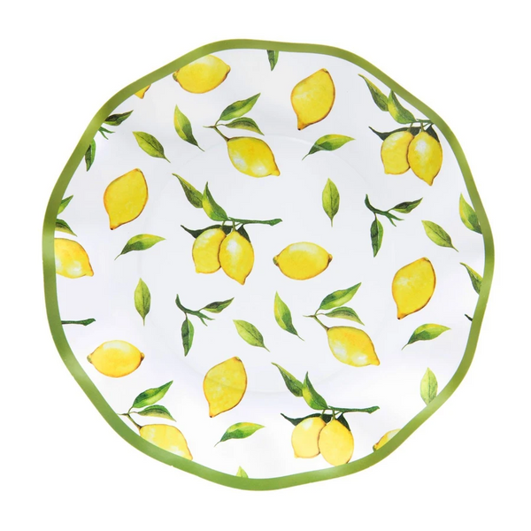 LEMON DROP WAVY SALAD PLATE
