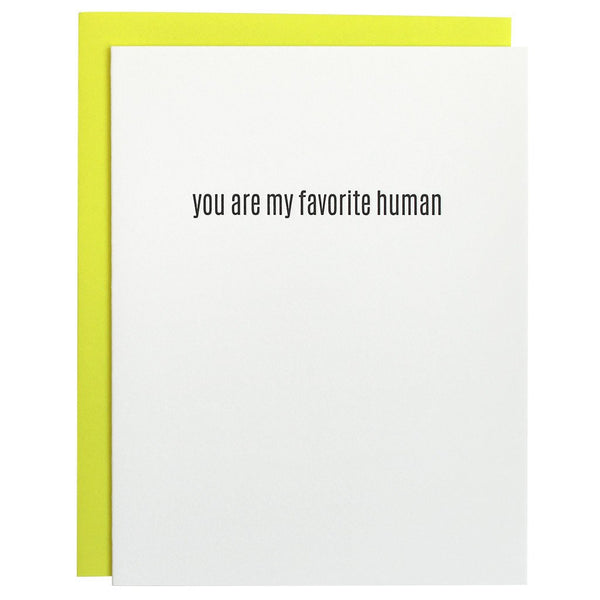 Favorite Human Letterpress Card