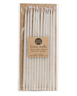 Ivory Tall Beeswax Party Candles