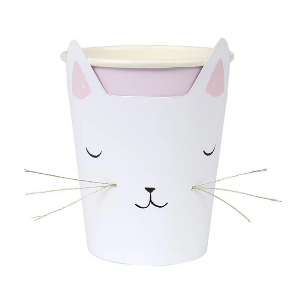 Cat with Whiskers Cups
