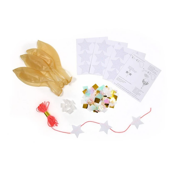 Iridescent Confetti Balloon Kit