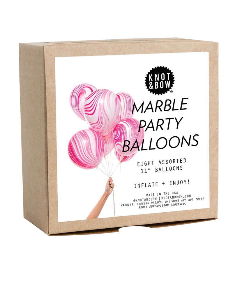 Pink Marble Party Balloons