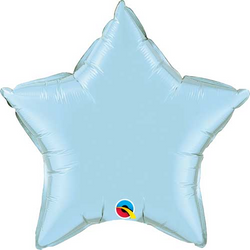 "20"" Star Balloon - Pearl Light Blue"