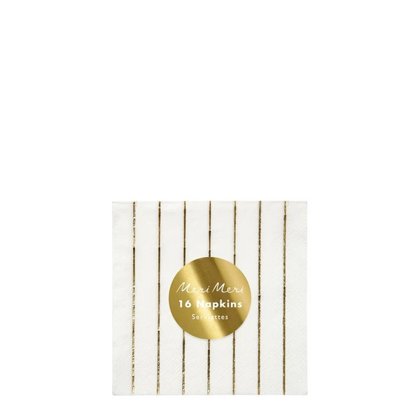 Gold Striped Napkins - Small