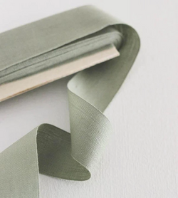 TIGHT WEAVE COTTON RIBBON - SAGE