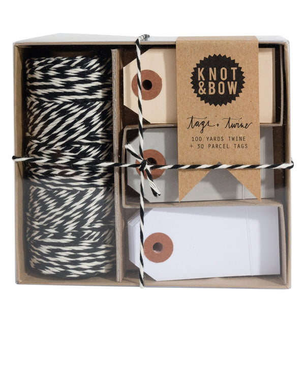 Black Natural / Neutral Tag + Twine Box