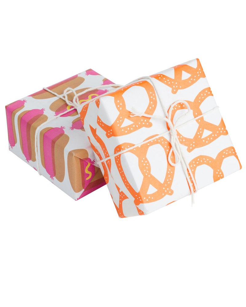 Hot Dog Newsprint Gift Wrap
