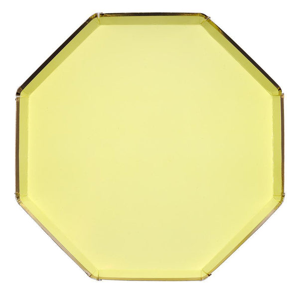 Pale Yellow Dinner Plates - Large