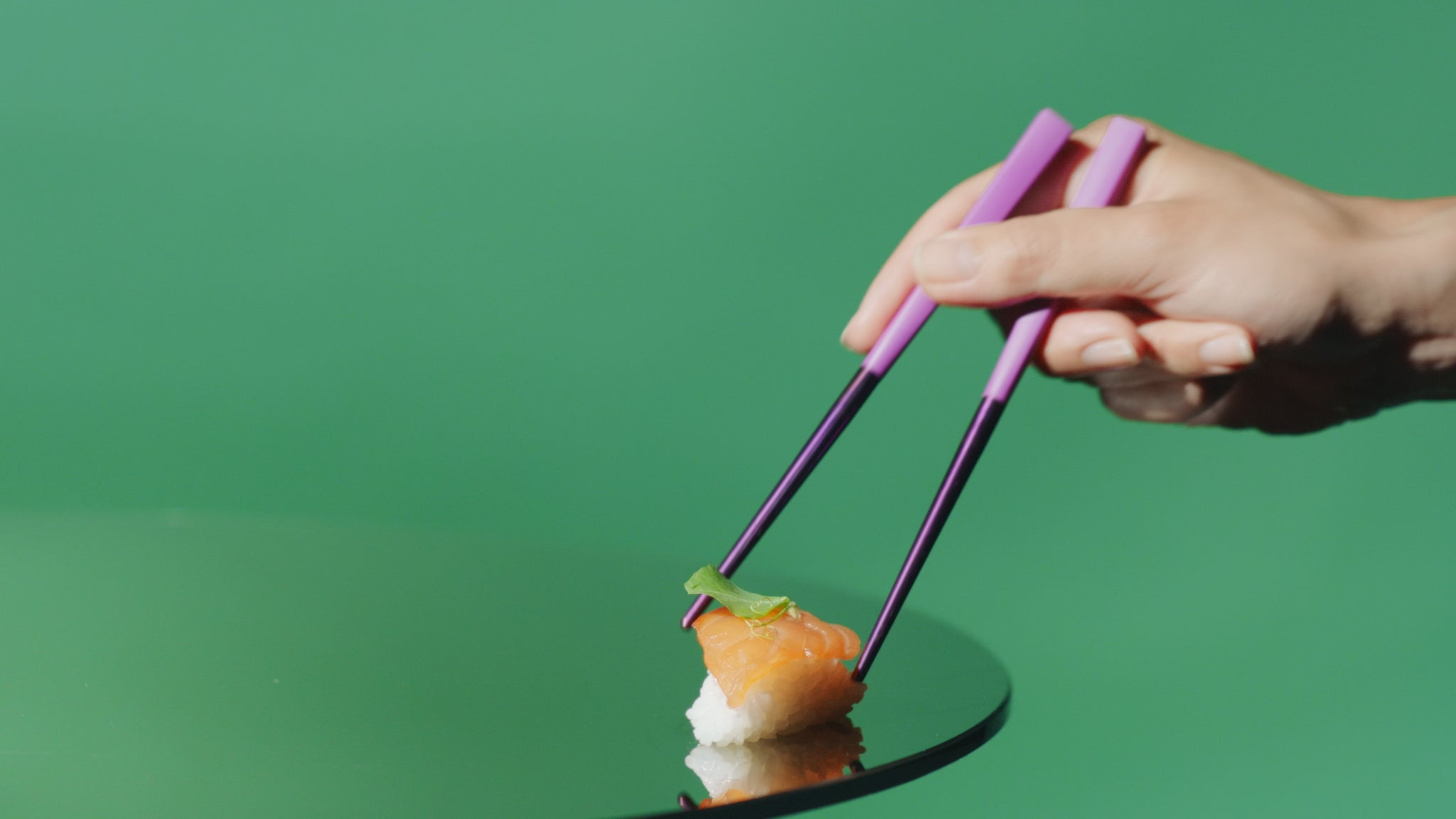 otherware pebble chopsticks sushi campaign shot
