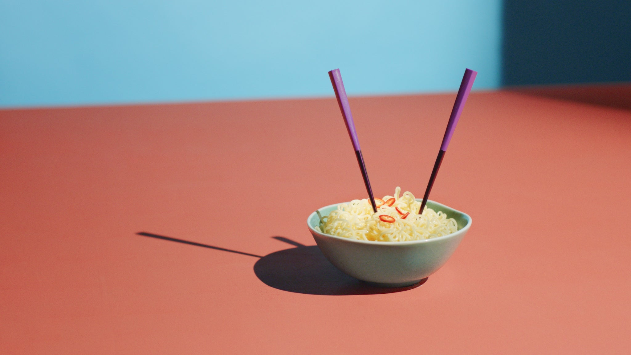 otherware pebble chopsticks noodles campaign shot
