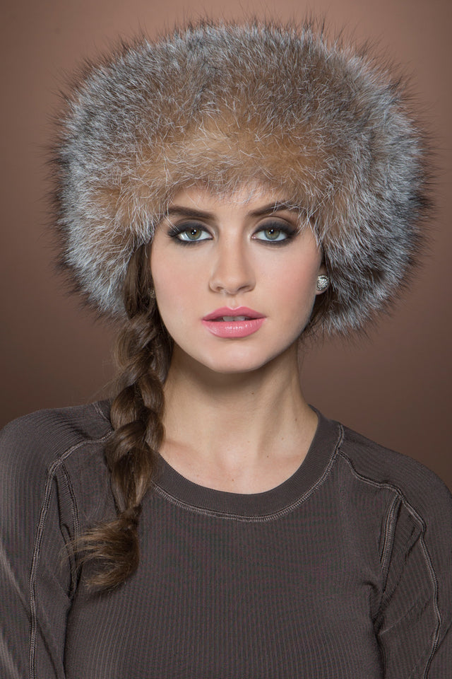 Sheared Mink and Fox Fur Hat