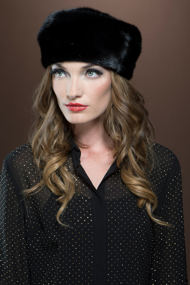 Fitted Profile Ranch Mink Fur Beret