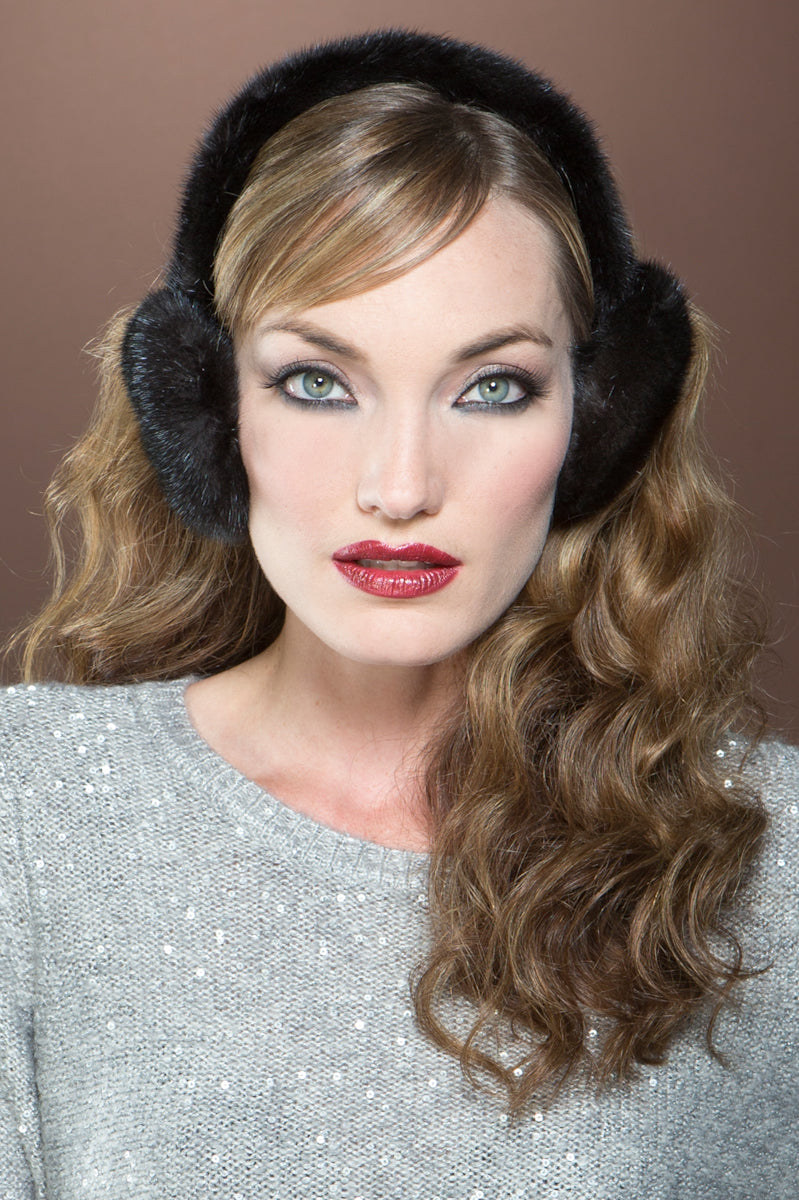 Ranch Lenore Marshall Mink Fur Earmuffs & Mink Headband