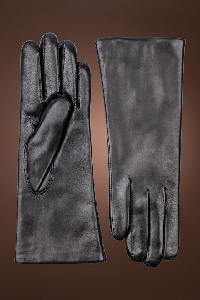 Women's Hairsheep Leather Pique 3 Btn Cashmere Lined Gloves