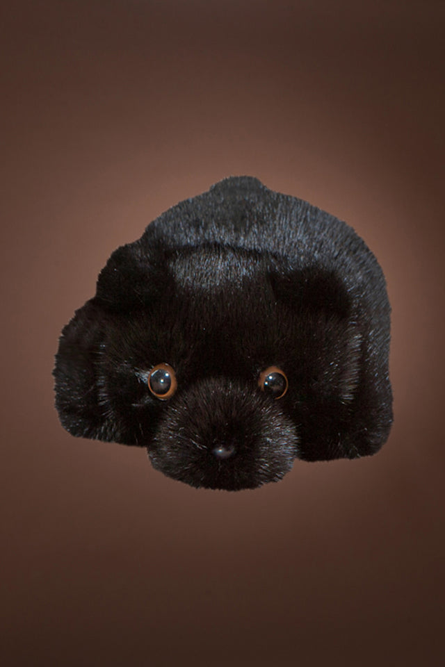 Black Mink Fur Teddy Bear
