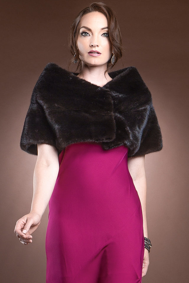 Ranch Mink Fur Shrug