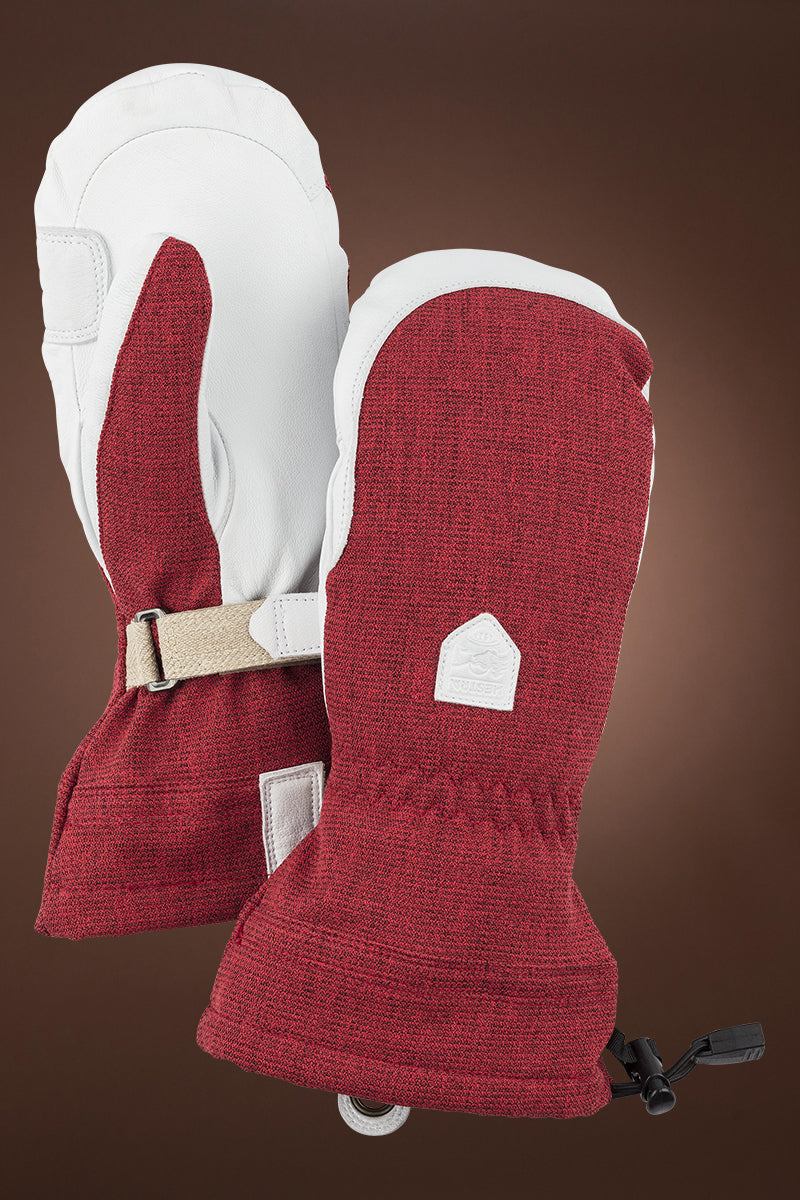 Red Hestra Women's Patrol Gauntlet Ski Mitt