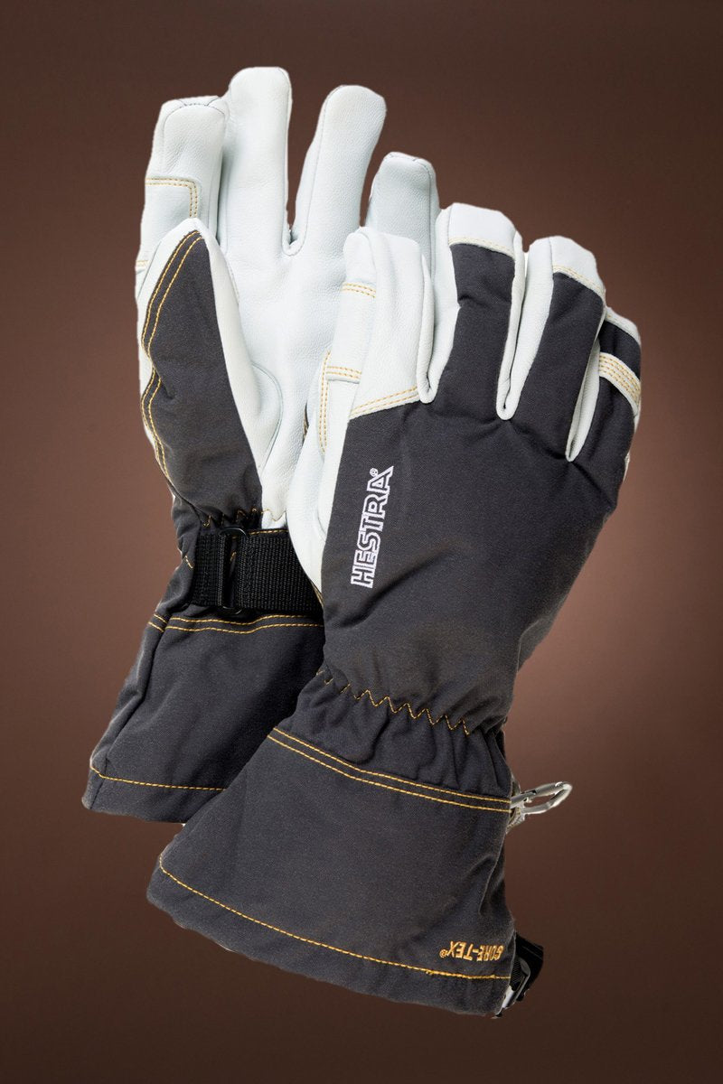 Gray  Hestra Men's Gray Fall Line Leather Gloves