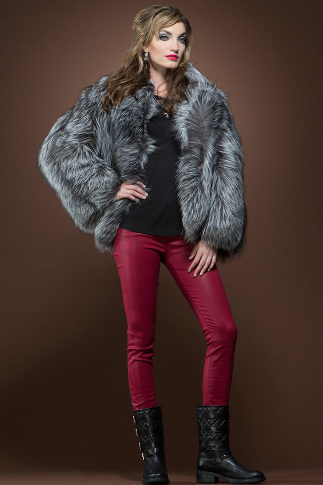 Mary McFadden Fox Fur Jacket