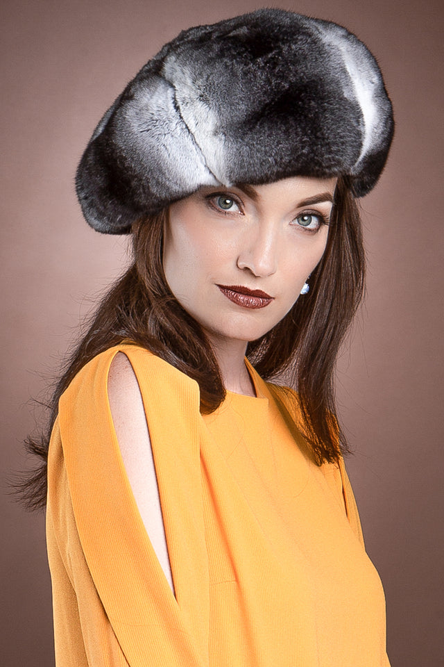 Chinchilla Fur Beret