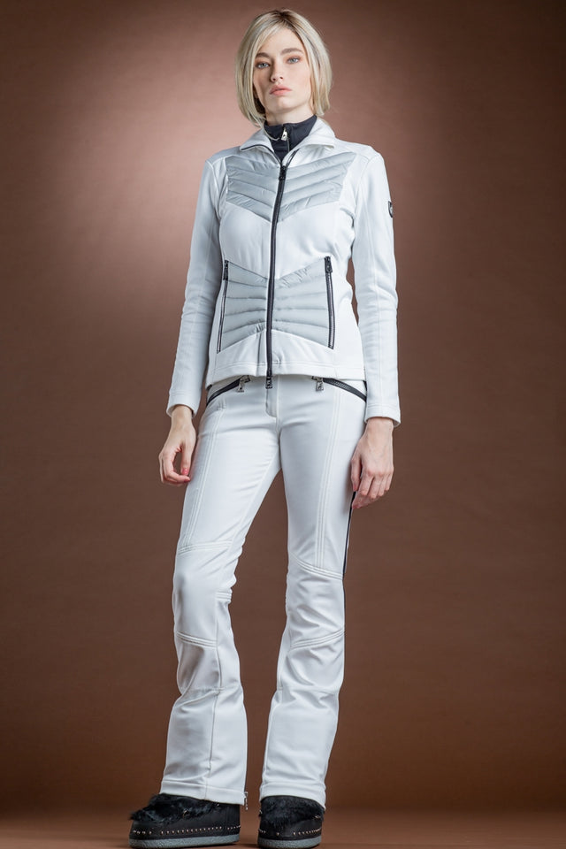 White Toni Sailer Aira Stretch Fleece Mid-Layer Jacket