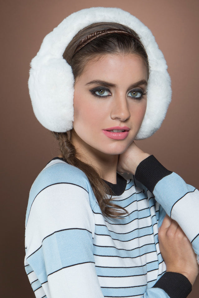 Rex Rabbit Fur Earmuffs