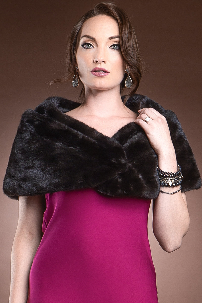 Ranch Monique L'Huillier Classic Evening Mink Fur Stole