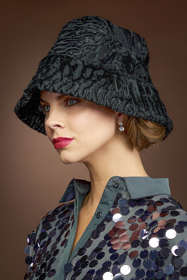 BlackTexture Texture Lenore Marshall Real Floppy Fur Hat