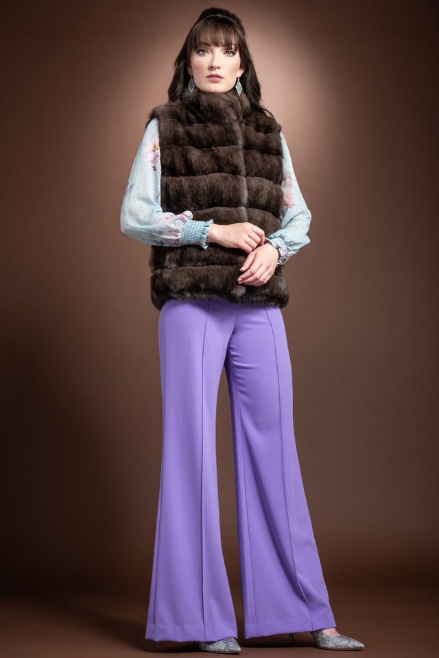 Russian Sable Horizontal Fur Vest